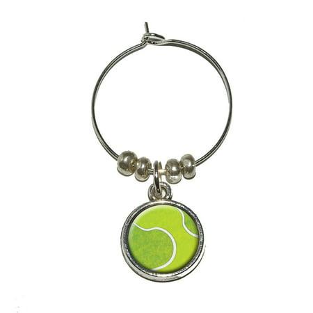 - Tennis Ball Sporting Goods Sportsball Wine Glass Charm