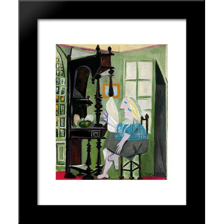 Woman by the dresser 20x24 Framed Art Print by Picasso, Pablo