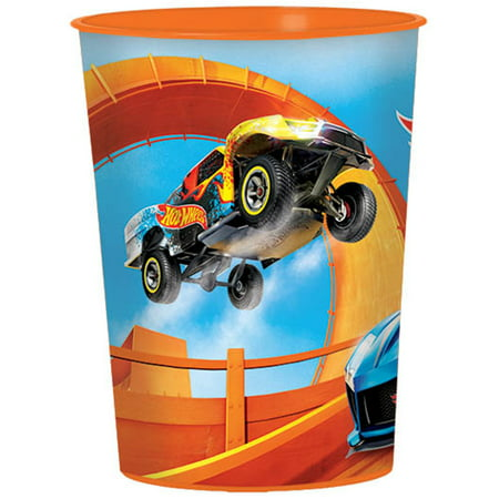 Hot Wheels Wild Racer 16oz Plastic Favor Cup - Party Supplies - Hotwheels Party