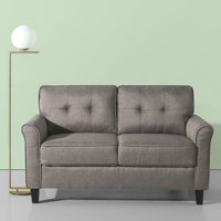 Zinus Sayan Traditional Loveseat, Grey Weave