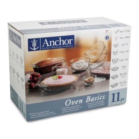 Anchor Hocking 82643OBL5 11 Pc. Bake Set by