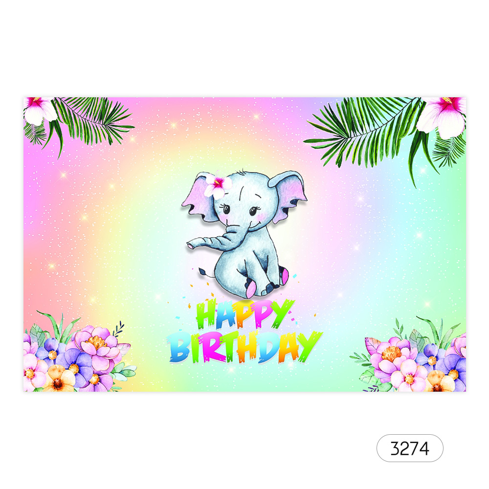7*5ft Happy Birthday Cartoon Backdrop Baby Shower Kid ...