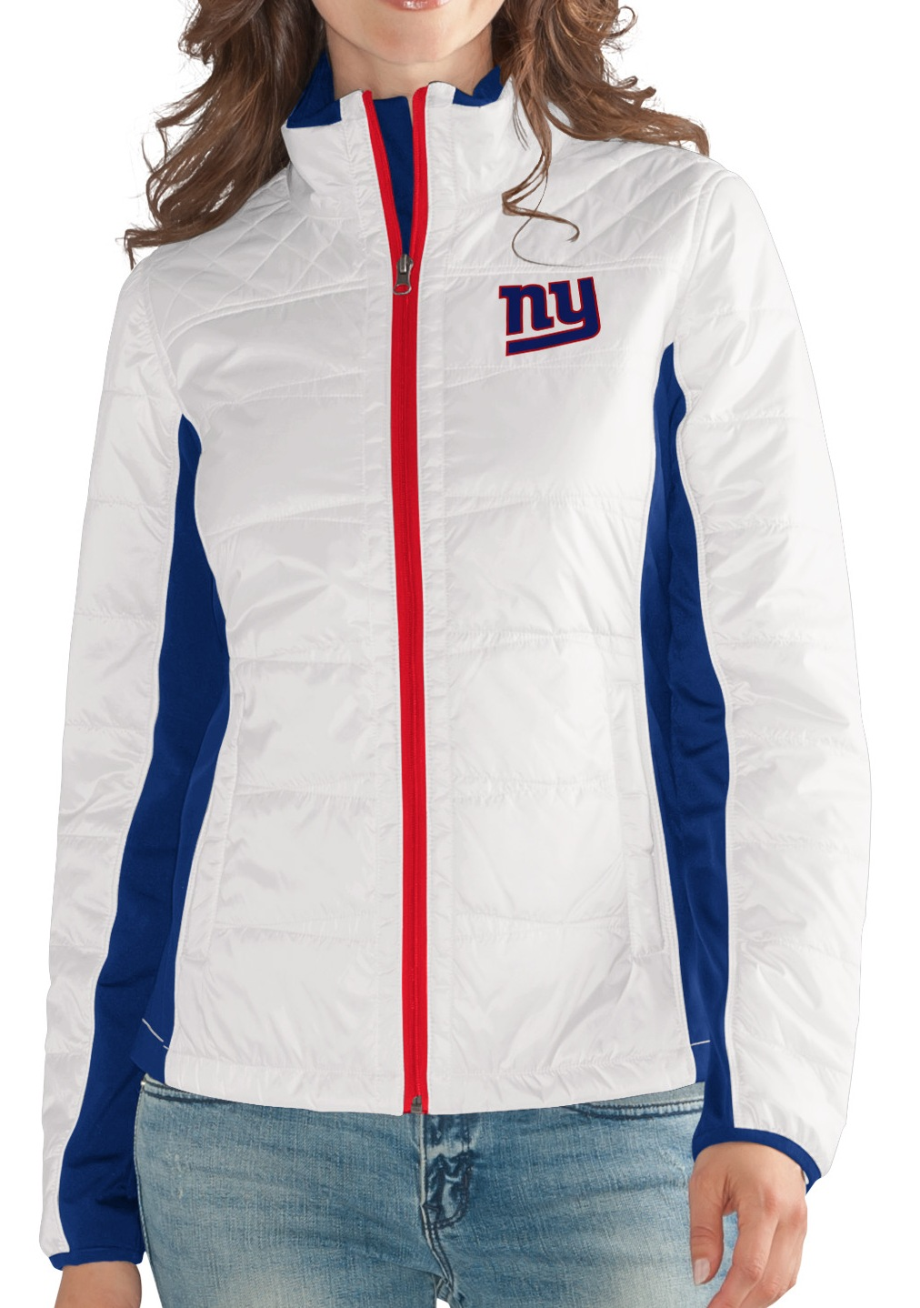 "New York Giants Women's NFL G-III ""Fullback"" Full Zip Quilted Jacket by G-III Sports"