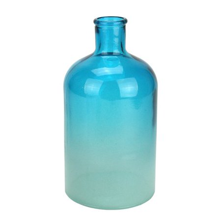 Northlight Seasonal Fancy Fair Ombre Recycled Spanish Glass Vase