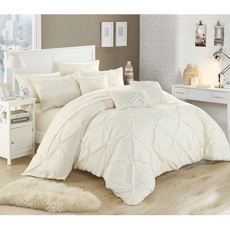 Chic Home 10 Piece Hannah Pinch Pleated Ruffled And Pleated