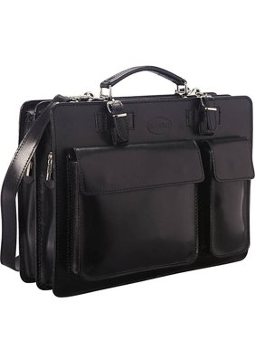Sharo 'The Organizer': Italian Leather Laptop Brief and Messenger Bag with iPad Compartent