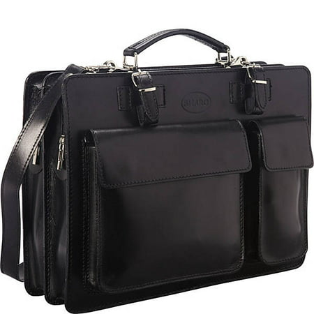 Sharo 'The Organizer': Italian Leather Laptop Brief and Messenger Bag with iPad (Best Business Travel Bag)