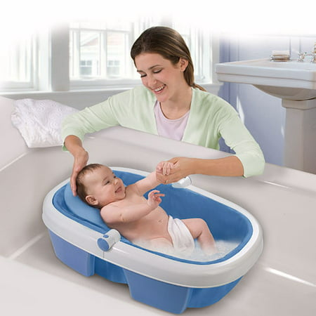 summer infant newborn to toddler portable folding bath tub. Black Bedroom Furniture Sets. Home Design Ideas