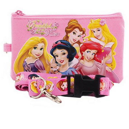 Princess Character Pink Lanyard with Detachable Coin Purse ()