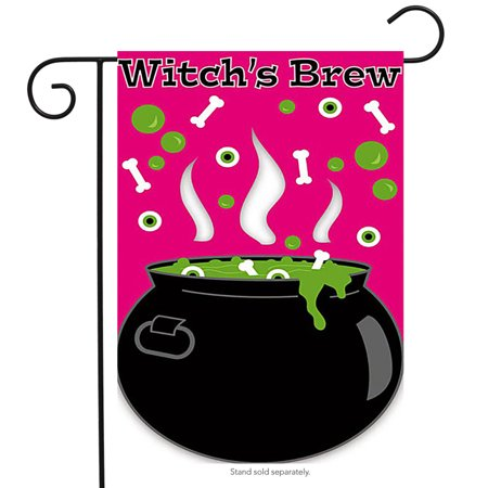 Witch's Brew Applique Halloween Garden Flag (Halloween Brew Alcoholic)