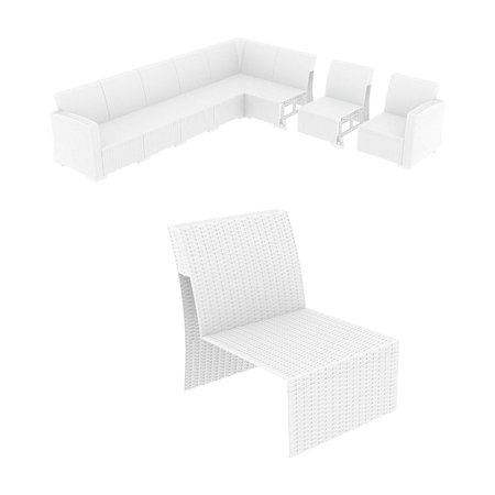 - Siesta Monaco Sectional Extension Seat with Cushion