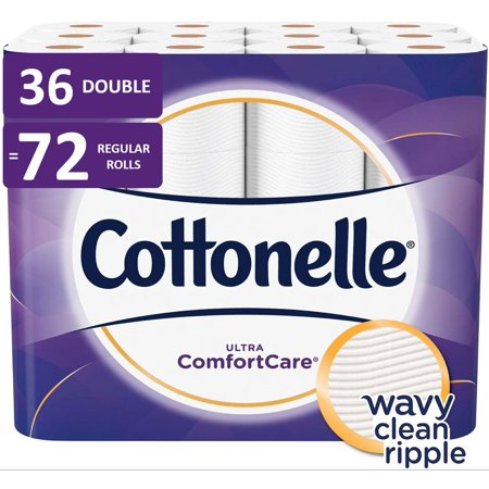 Cottonelle Ultra ComfortCare Toilet Paper, 36 Double Rolls (=72 Regular Rolls)