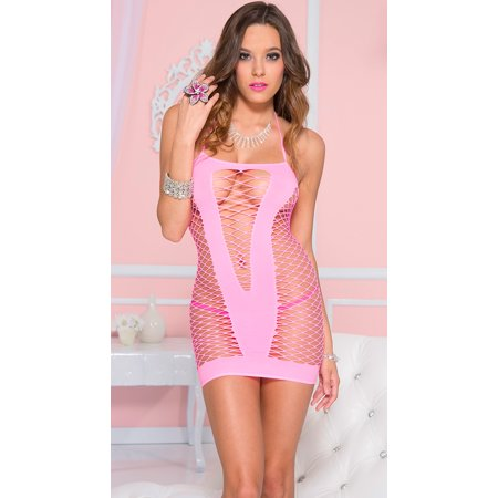 Pink Diamond Net Chemise