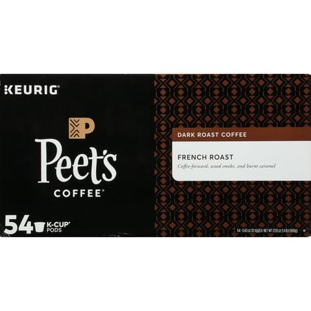 Peet's Coffee French Roast K-Cup Coffee Pods, Dark Roast, 54 Count (Kcups Peets Coffee)