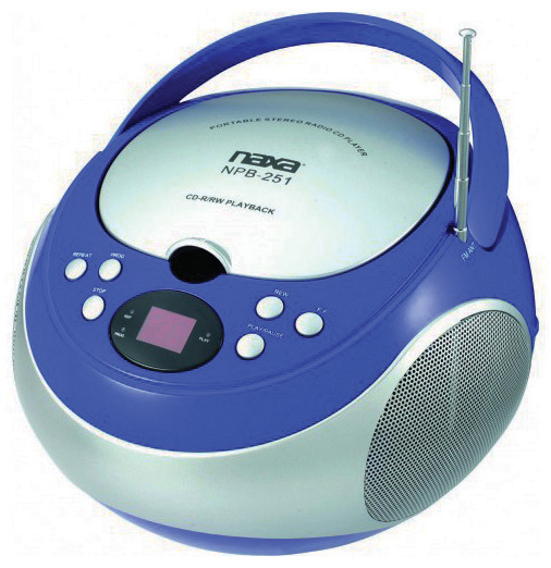 Naxa NPB251BL Portable Cd Player With Am/fm Blue