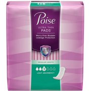 Poise Ultra Thins Light Absorbency Pads, 30 Count (Pack of 2)
