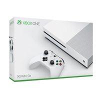 Microsoft Xbox One S 500GB Console, White, ZQ9-00001