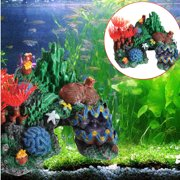 Aquarium Fish Tank Landscaping Furnishing Decoration Resin Coral Reef Mountain Cave