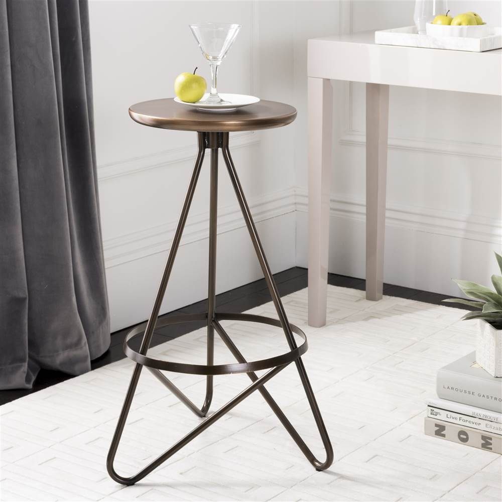 Safavieh Galexia Mid-Century Retro Metal Bar Stool
