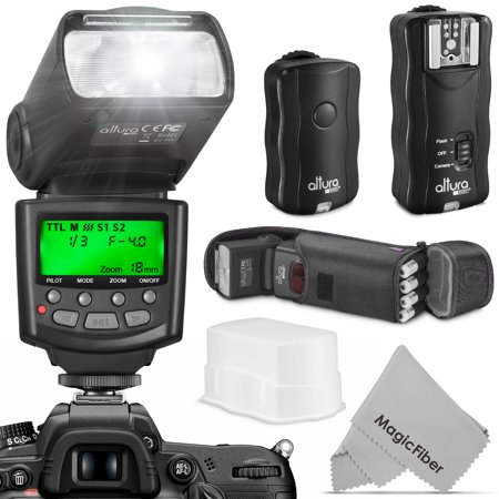 Altura Photo Professional Flash Kit for Canon DSLR with E-TTL Flash AP-C1001, Wireless Flash Trigger Set and (Best Wireless Flash Trigger For Canon)