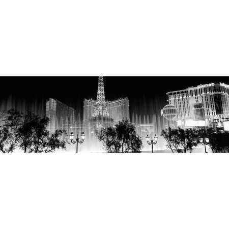 Hotels in a City Lit Up at Night, the Strip, Las Vegas, Nevada, USA Print Wall - Halloween Events Las Vegas Strip