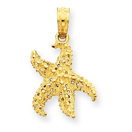 14k Yellow Gold Starfish Pendant