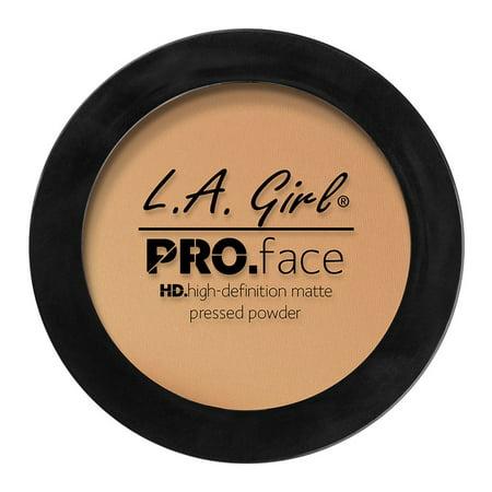 LA Girl Pro Face HD Matte Pressed Powder Foundation, Medium Beige, 0.25