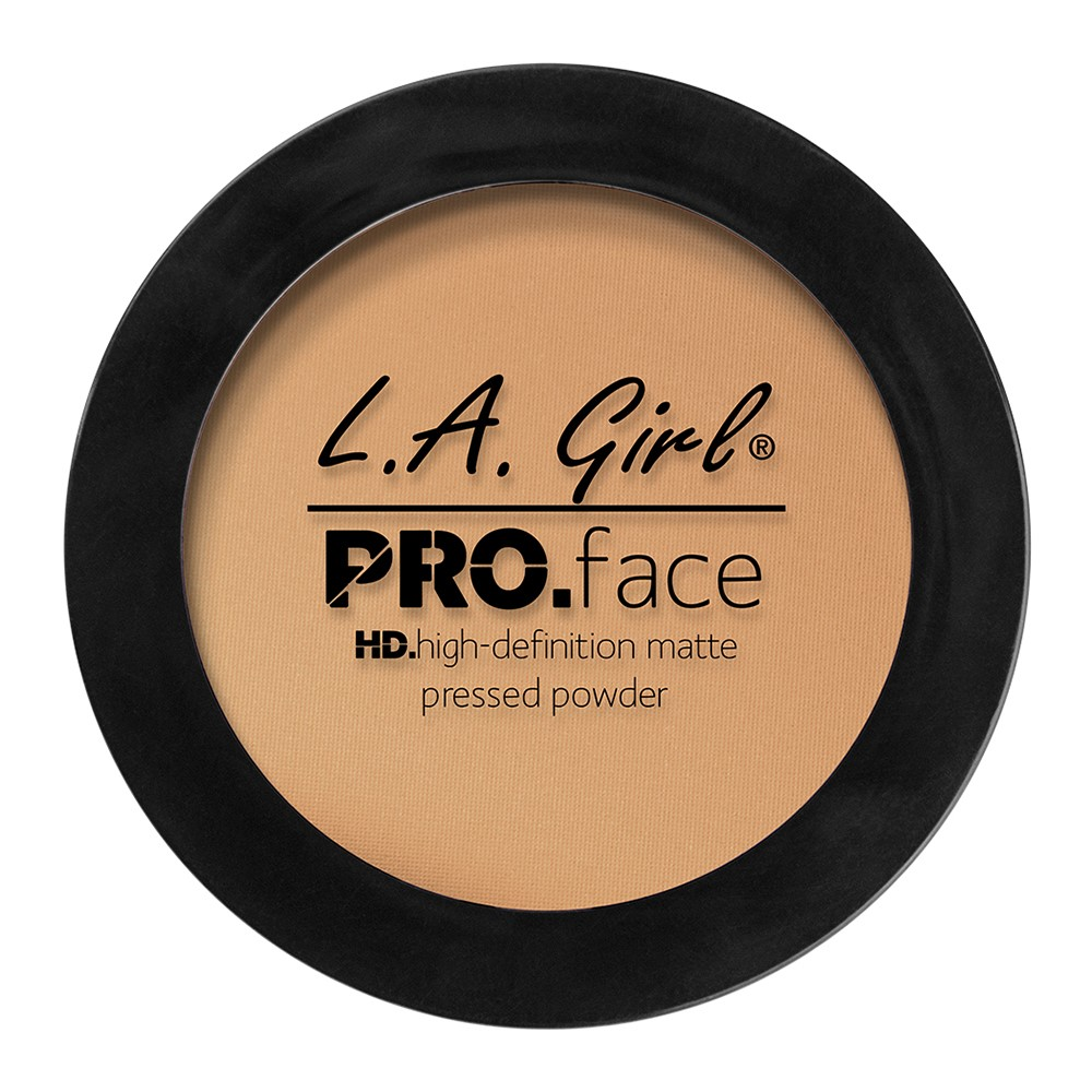 LA Girl Pro Face HD Matte Pressed Powder Foundation, Medium Beige, 0.25 Oz