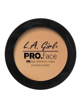 LA Girl Pro Face HD Matte Pressed Powder Foundation, Medium Beige, 0.25 Oz