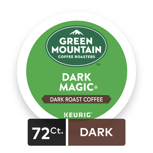 (4 Pack) Green Mountain Coffee Dark Magic, Keurig K-Cup Pods, Dark Roast, 18 Count