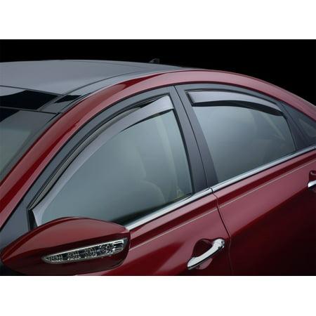 Insight Lights Accessories - WeatherTech 09+ Honda Insight Front and Rear Side Window Deflectors - Light Smoke