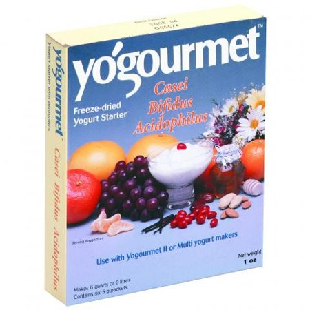 Yogourmet  Probiotic Yogurt  Freeze-Dried Starter  6 Packets  5 g