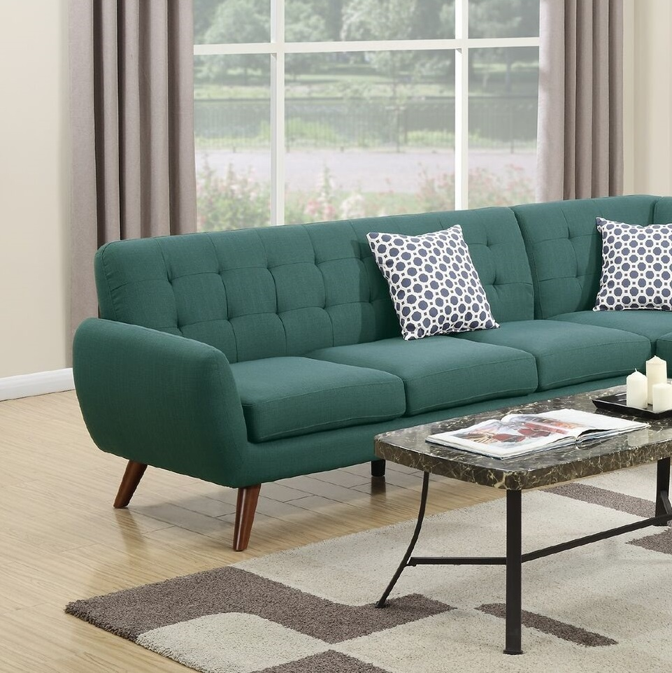 2-Pcs Laguna Polyfiber Sectional Sofa with Chaise