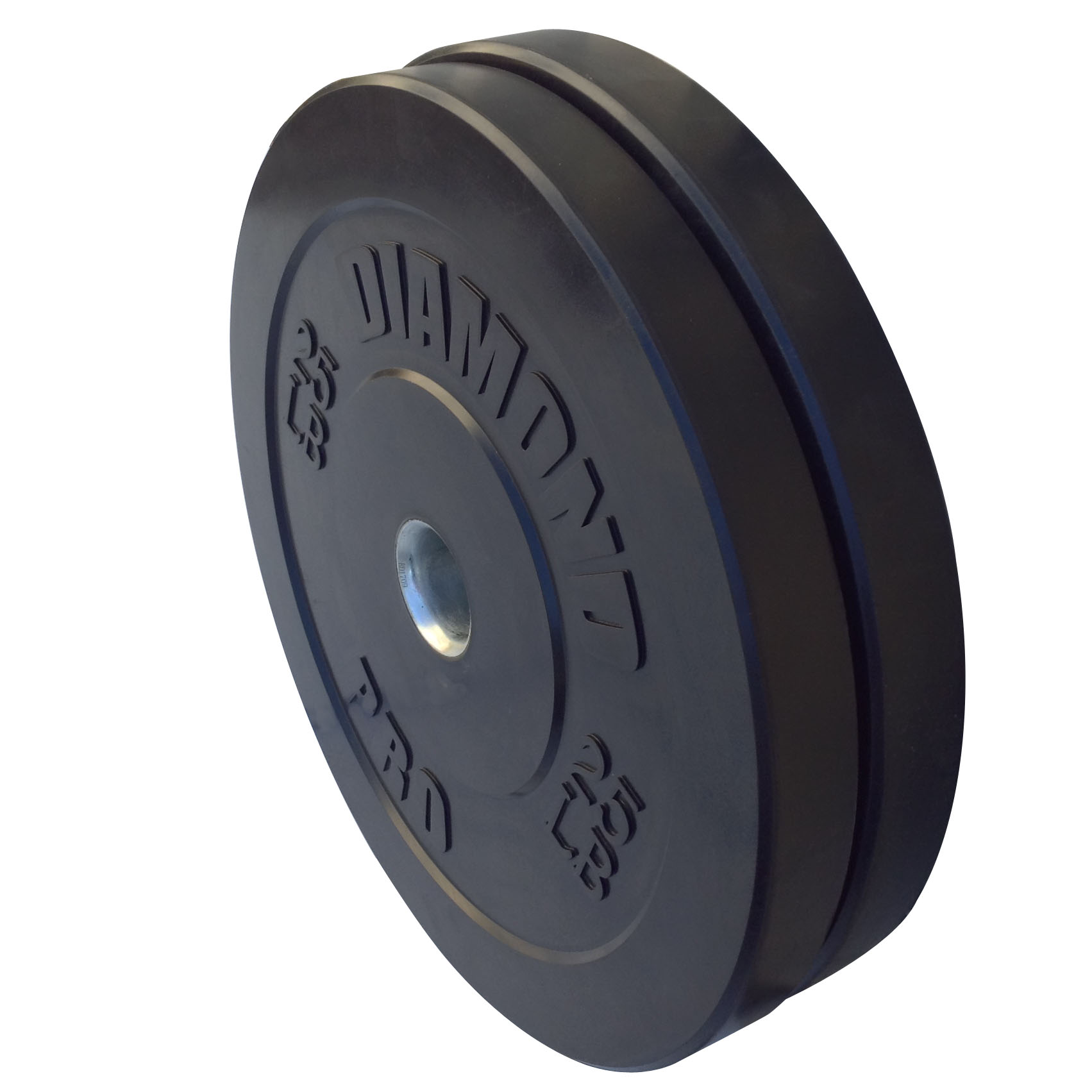 Diamond Pro 25 lb Black Bumper Plate Pair