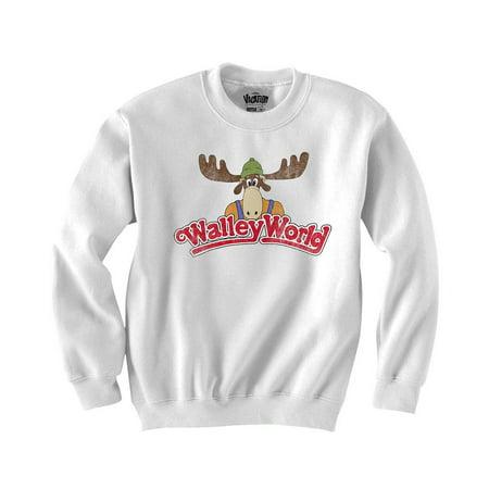 National Lampoons Vacation Wally World Logo Juniors Crewneck Fleece 2XL
