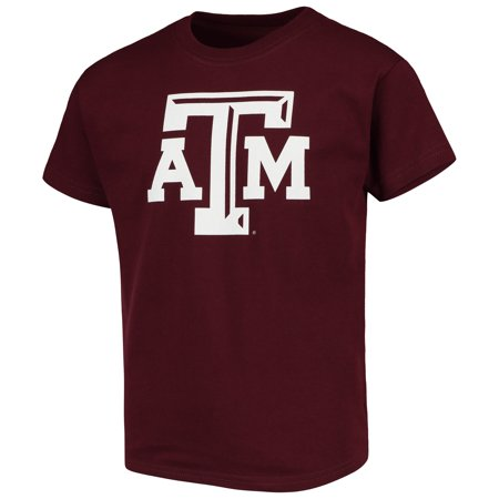 Texas A&m Aggies University (Texas A&M Aggies Russell Youth Oversized Graphic Crew Neck T-Shirt - Maroon)
