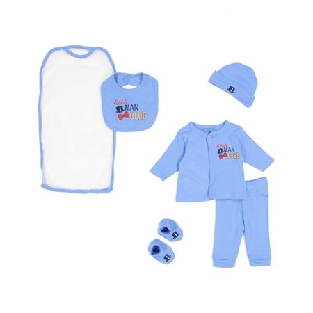 Sweet & Soft 2323223 Baby 5 Piece Take Me Home Gift Set, Little Men - Blue - Case of 24 - image 1 of 1