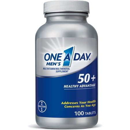 One-A-Day Men's 50+ Healthy Advantage Multivitamins 100 ea (Pack of 2)