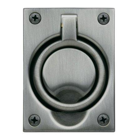 Baldwin 0395151 Flush Ring Pull Antique Nickel - Baldwin Flush Ring Pull