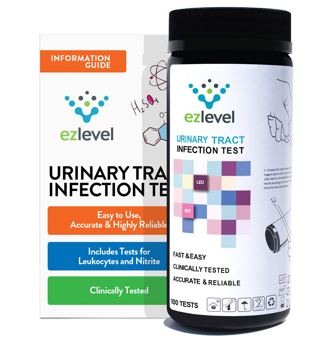 EZ Level Urinary Tract Infection UTI Test Strips Leukocytes And Nitrite (100Tests)