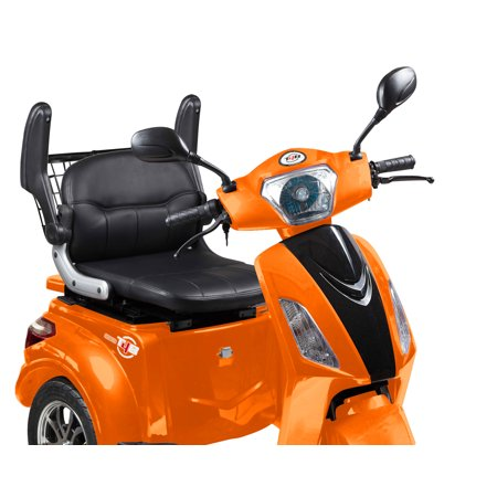 T4B LU-500W Mobility Electric Recreational Outdoors Scooter 48V20AH with Three Speeds, 14/22/32kmph - Orange - image 4 de 14