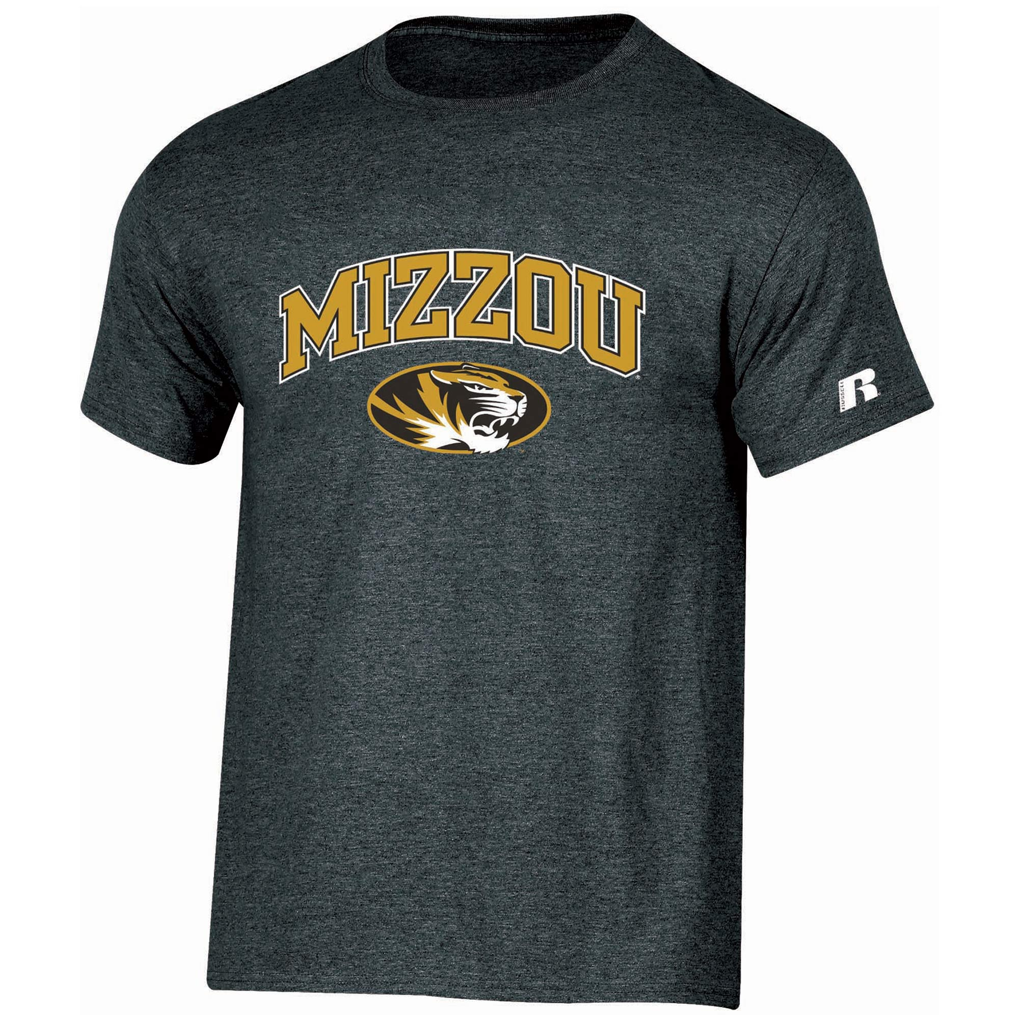 Men's Russell Black Missouri Tigers Core Print T-Shirt