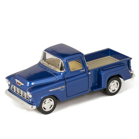 "5"" Kinsmart 1955 Chevy Stepside 3100 Pick Up Truck 1:32 Diecast Model Toy Little Blue Truck"