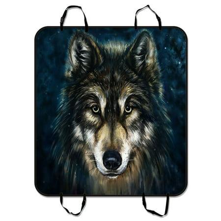 Gckg Brave Black Wolf Pet Car Seat Cover Dog Car Seat Mat