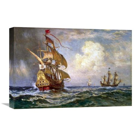 Global Gallery 'Knight of the Double Cross' by Jean Leon Gerome Ferris Painting Print on Wrapped Canvas