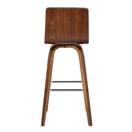 """Hawthorne Collections 30"""" Faux Leather Bar Stool in Gray - image 5 of 7"""