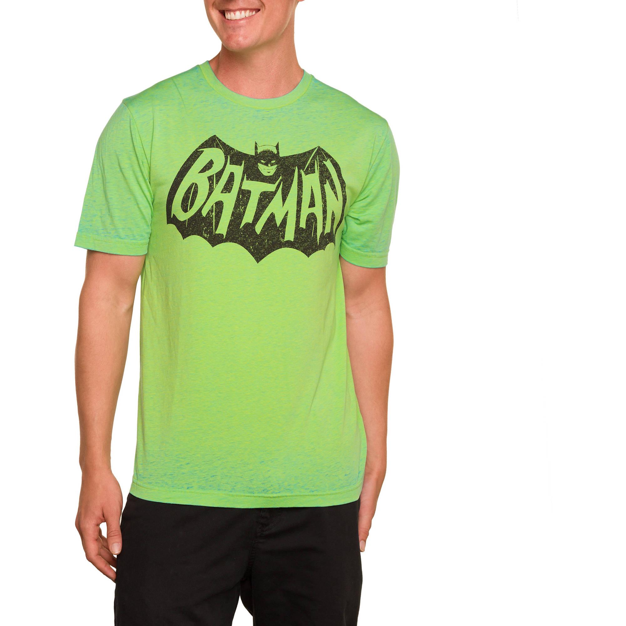 Men's DC Neon Batman Short Sleeve Burnout Crew Tee by