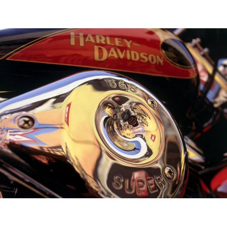 Harley Davidson Heritage Softail Made 1991 from a 1936 Style Print Wall Art