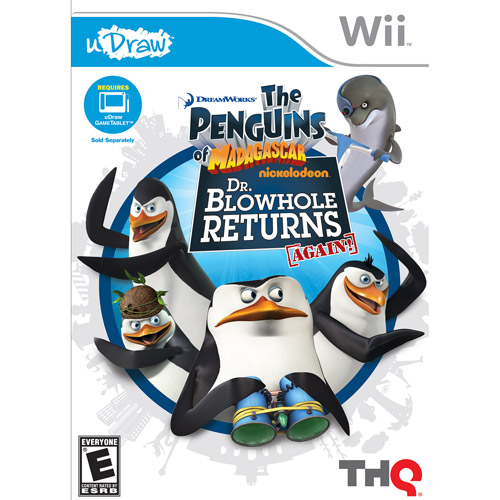 uDraw Penguins of Madagascar: Dr. Blowhole Returns Again! - Nintendo Wii