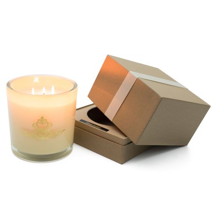 Hanna's Candle Company Candle, 32 Ounce, Neroli Honey in Antique White Glass
